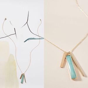 💎 Anthropologie Linear Pendant Necklace